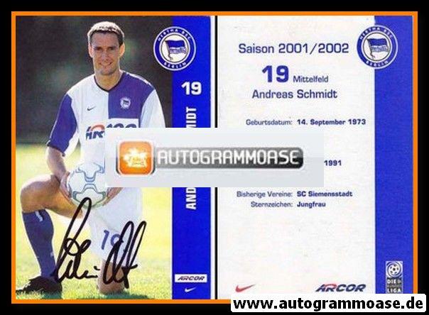 Autogramm Fussball | Hertha BSC Berlin | 2001 Arcor | Andreas SCHMIDT