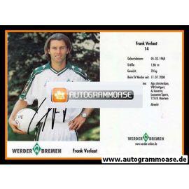 Autogramm Fussball | SV Werder Bremen | 2001 | Frank VERLAAT