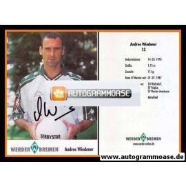 Autogramm Fussball | SV Werder Bremen | 2001 | Andree WIEDENER