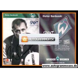 Autogramm Fussball | SV Werder Bremen | 2002 SW | Dieter BURDENSKI