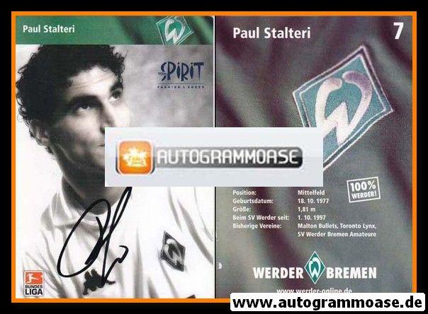 Autogramm Fussball   SV Werder Bremen   2002 SW   Paul STALTERI