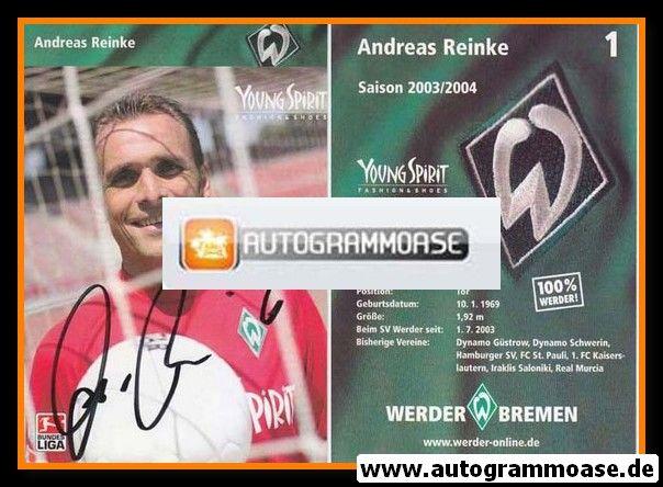 Autogramm Fussball | SV Werder Bremen | 2003 | Andreas REINKE