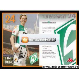 Autogramm Fussball   SV Werder Bremen   2006 we win   Tim BOROWSKI