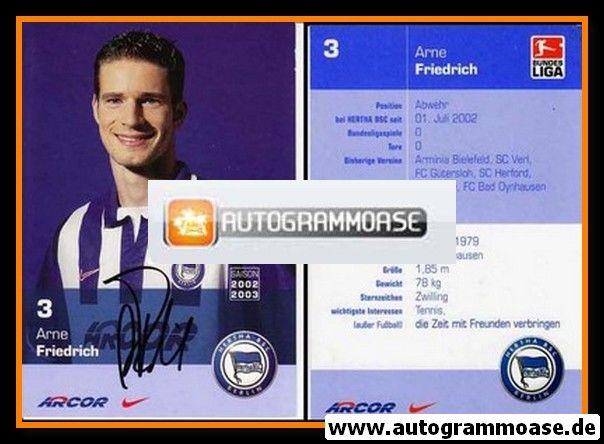 Autogramm Fussball | Hertha BSC Berlin | 2002 | Arne FRIEDRICH