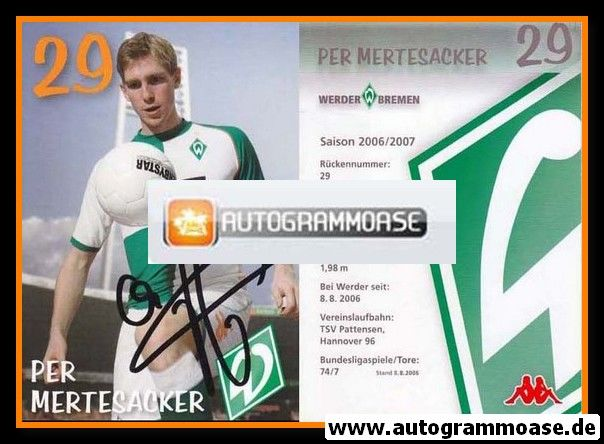 Autogramm Fussball | SV Werder Bremen | 2006 we win | Per MERTESACKER