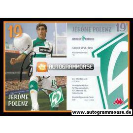 Autogramm Fussball   SV Werder Bremen   2006 we win   Jerome POLENZ