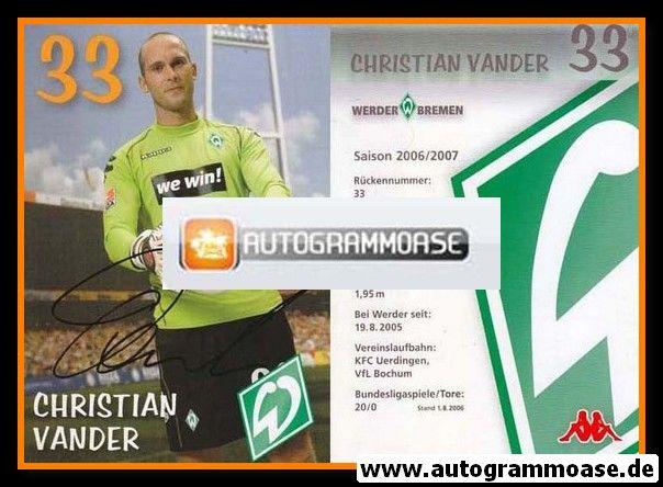 Autogramm Fussball | SV Werder Bremen | 2006 we win | Christian VANDER