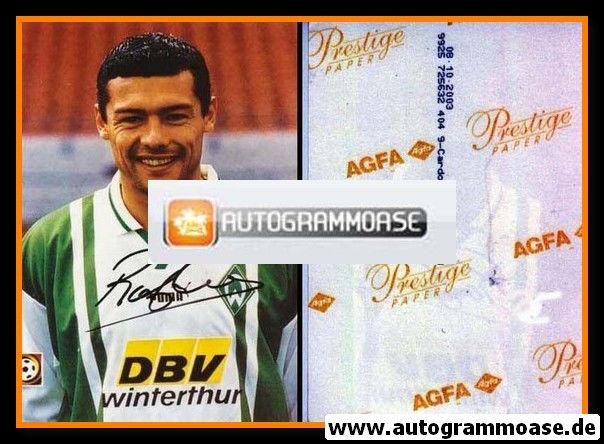 Autogramm Fussball | SV Werder Bremen | 1996 Foto | Rodolfo CARDOSO (AK ohne Name)
