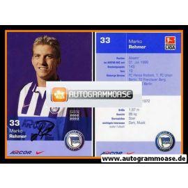 Autogramm Fussball | Hertha BSC Berlin | 2002 | Marko REHMER