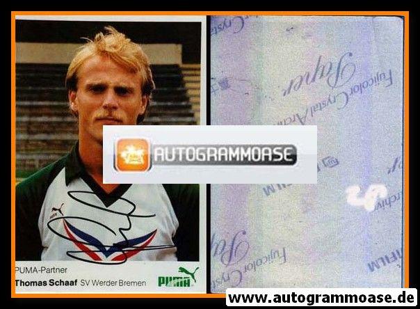 Autogramm Fussball | SV Werder Bremen | 1984 Foto | Thomas SCHAAF (mit Name)