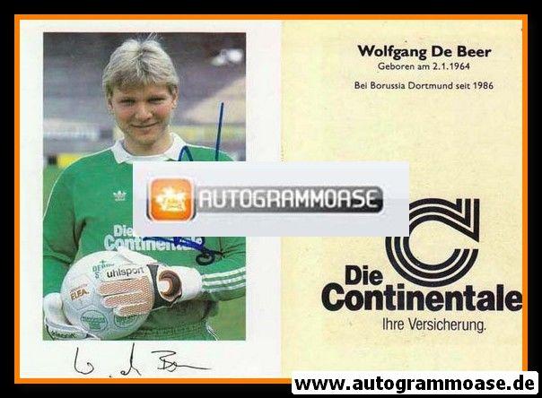 Autogramm Fussball | Borussia Dortmund | 1986 | Wolfgang DE BEER (plus Druck)