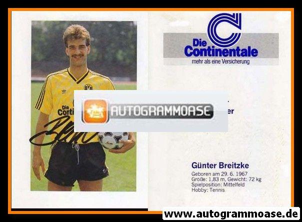 Autogramm Fussball | Borussia Dortmund | 1989 | Günter BREITZKE