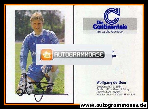 Autogramm Fussball   Borussia Dortmund   1989   Wolfgang DE BEER