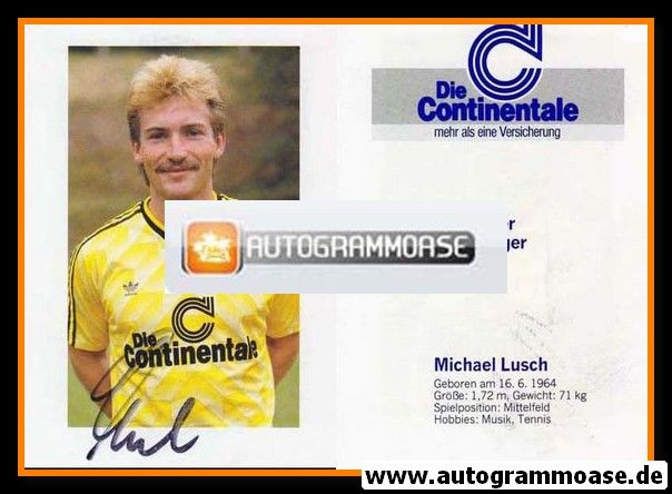 Autogramm Fussball | Borussia Dortmund | 1988 | Michael LUSCH (1)