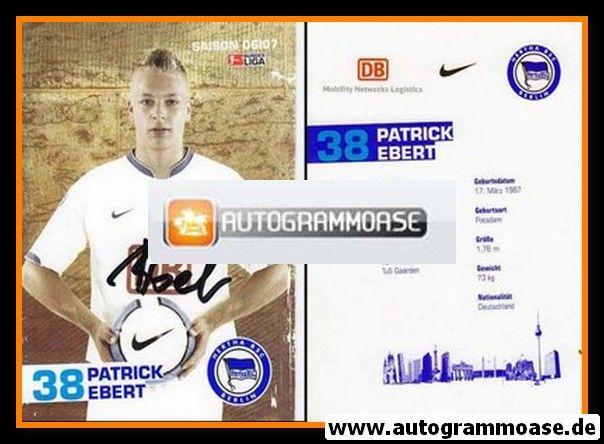 Autogramm Fussball   Hertha BSC Berlin   2006   Patrick EBERT
