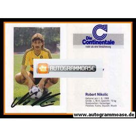 Autogramm Fussball | Borussia Dortmund | 1989 | Robert NIKOLIC