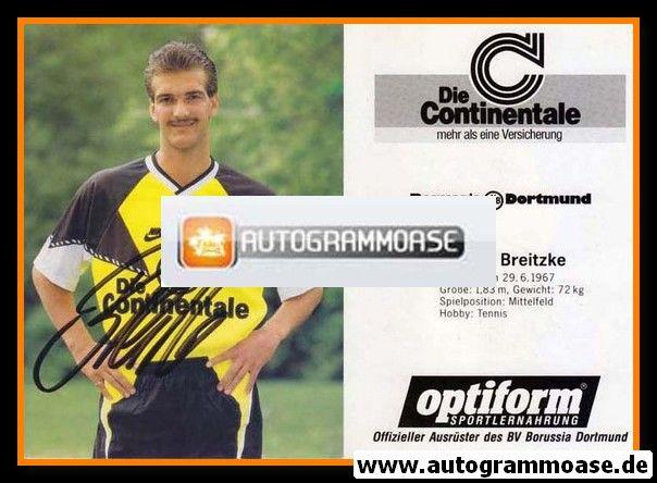 Autogramm Fussball | Borussia Dortmund | 1990 | Günter BREITZKE