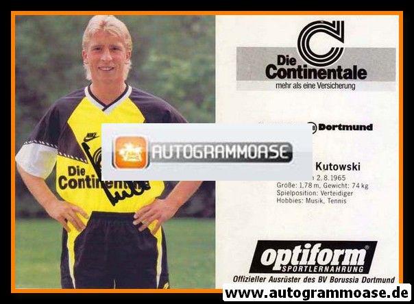 Autogramm Fussball | Borussia Dortmund | 1990 | Günter KUTOWSKI