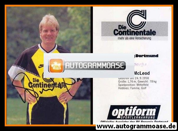 Autogramm Fussball   Borussia Dortmund   1990   Murdo McLEOD