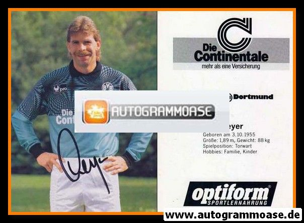 Autogramm Fussball | Borussia Dortmund | 1990 | Rolf MEYER