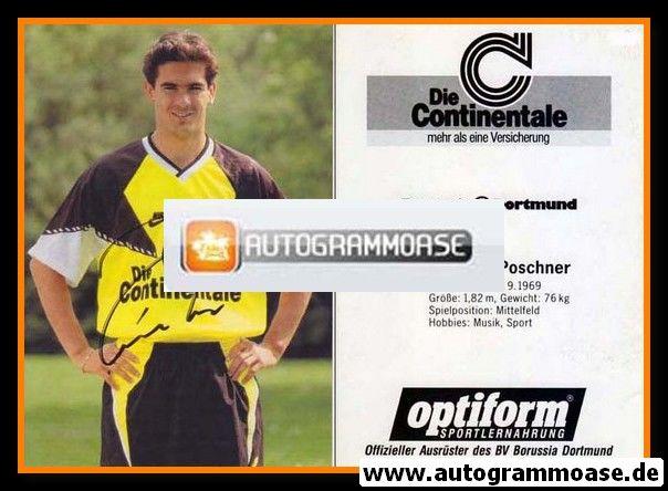 Autogramm Fussball   Borussia Dortmund   1990   Gerhard POSCHNER