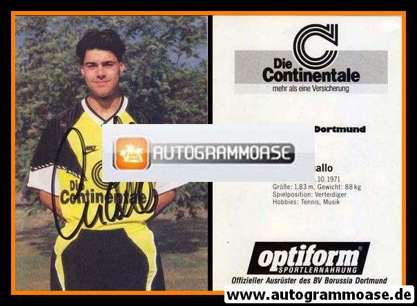 Autogramm Fussball   Borussia Dortmund   1990   Peter QUALLO