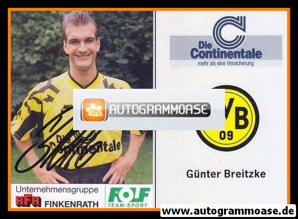 Autogramm Fussball | Borussia Dortmund | 1991 Portrait | Günter BREITZKE