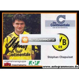 Autogramm Fussball   Borussia Dortmund   1991 Portrait   Stephane CHAPUISAT