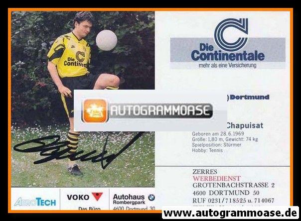 Autogramm Fussball   Borussia Dortmund   1991 Ball   Stephane CHAPUISAT