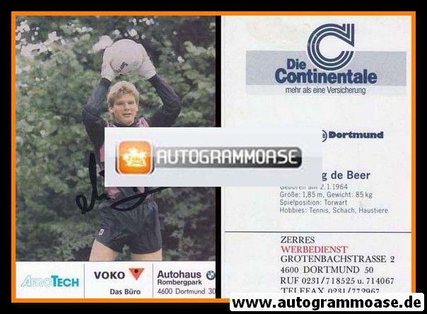 Autogramm Fussball | Borussia Dortmund | 1991 Ball | Wolfgang DE BEER