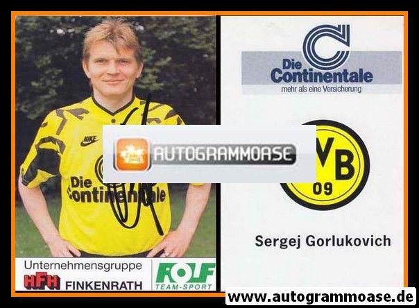 Autogramm Fussball   Borussia Dortmund   1991 Portrait   Sergej GORLUKOVICH