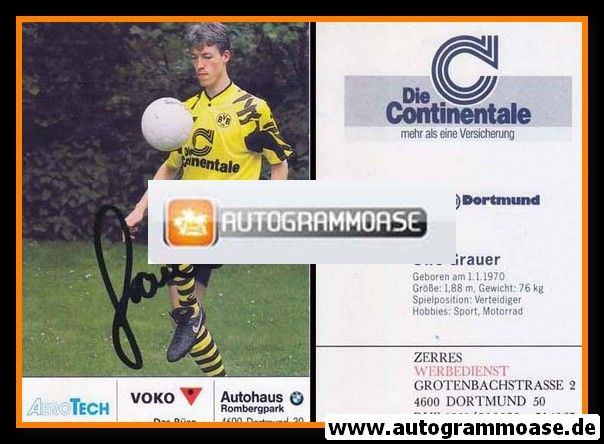 Autogramm Fussball   Borussia Dortmund   1991 Ball   Uwe GRAUER