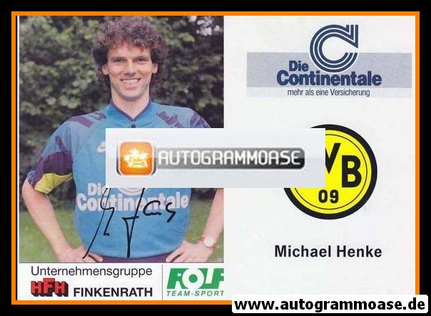 Autogramm Fussball | Borussia Dortmund | 1991 Portrait | Michael HENKE