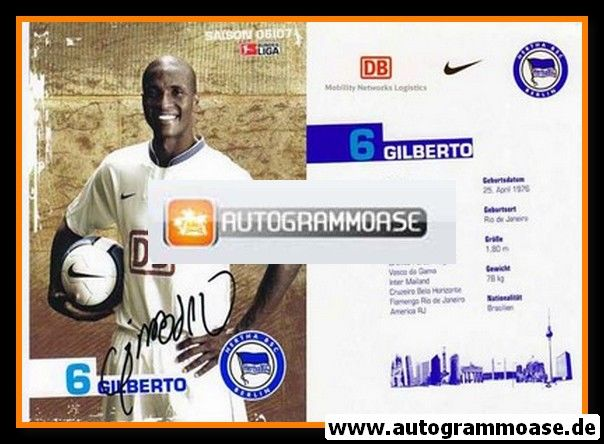 Autogramm Fussball | Hertha BSC Berlin | 2006 | GILBERTO