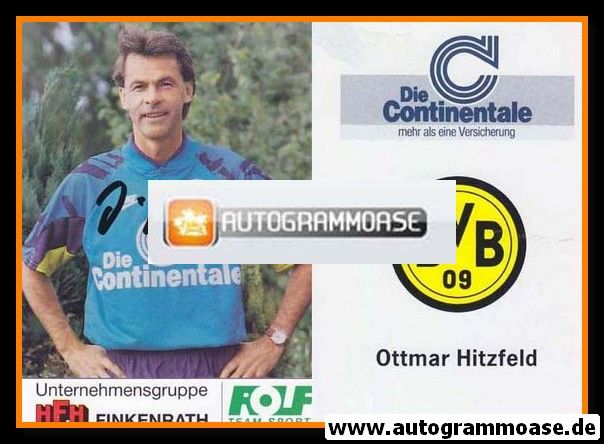 Autogramm Fussball | Borussia Dortmund | 1991 Portrait | Ottmar HITZFELD
