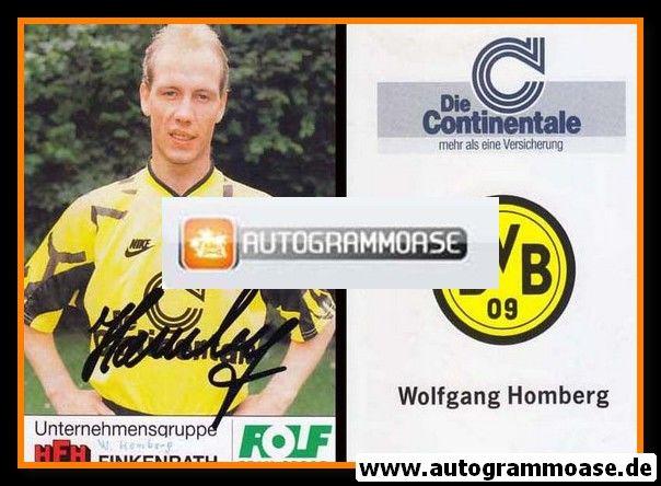 Autogramm Fussball | Borussia Dortmund | 1991 Portrait | Wolfgang HOMBERG