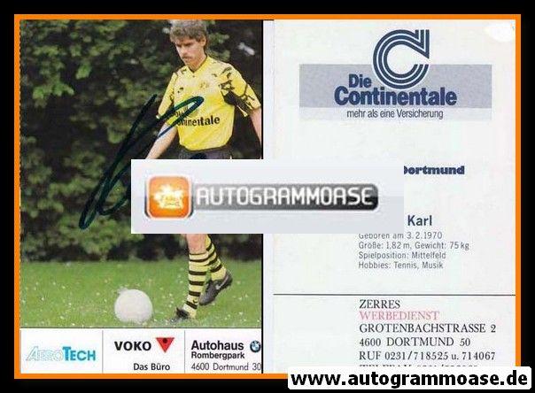 Autogramm Fussball   Borussia Dortmund   1991 Ball   Steffen KARL