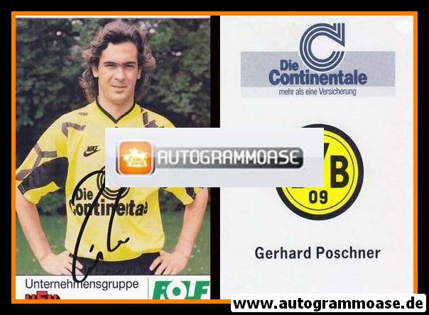 Autogramm Fussball | Borussia Dortmund | 1991 Portrait | Gerhard POSCHNER