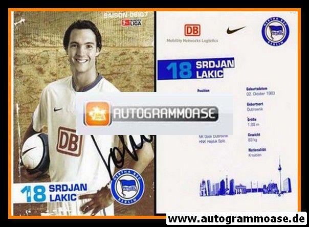 Autogramm Fussball | Hertha BSC Berlin | 2006 | Srdjan LAKIC