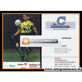 Autogramm Fussball   Borussia Dortmund   1991 Ball   Peter QUALLO