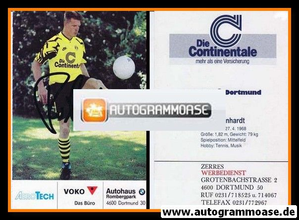 Autogramm Fussball   Borussia Dortmund   1991 Ball   Knut REINHARDT
