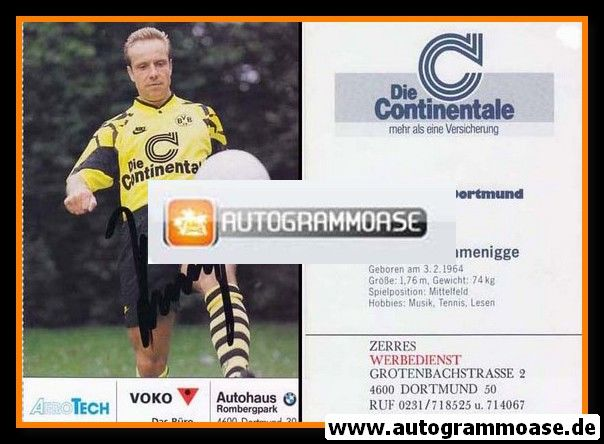 Autogramm Fussball | Borussia Dortmund | 1991 Ball | Michael RUMMENIGGE