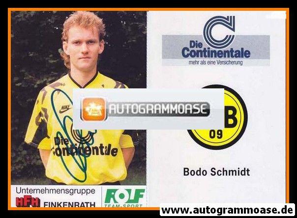 Autogramm Fussball | Borussia Dortmund | 1991 Portrait | Bodo SCHMIDT