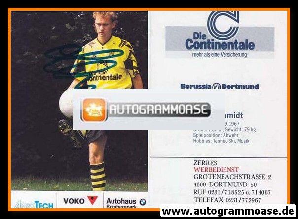 Autogramm Fussball | Borussia Dortmund | 1991 Ball | Bodo SCHMIDT