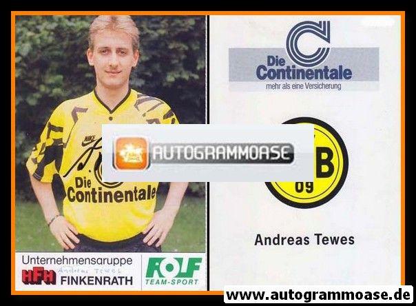 Autogramm Fussball   Borussia Dortmund   1991 Portrait   Andreas TEWES