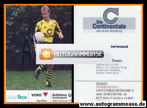 Autogramm Fussball   Borussia Dortmund   1991 Ball   Andreas TEWES