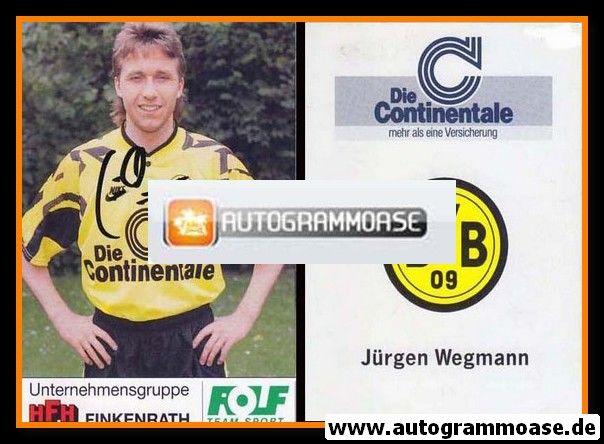 Autogramm Fussball | Borussia Dortmund | 1991 Portrait | Jürgen WEGMANN