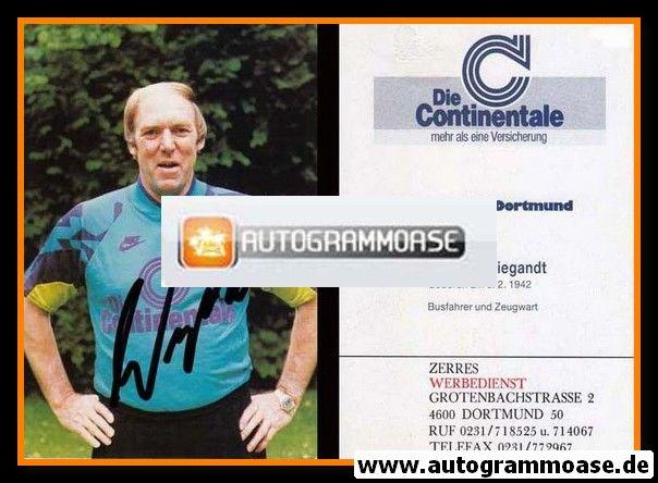 Autogramm Fussball   Borussia Dortmund   1991 Ball   Hartmut WIEGANDT