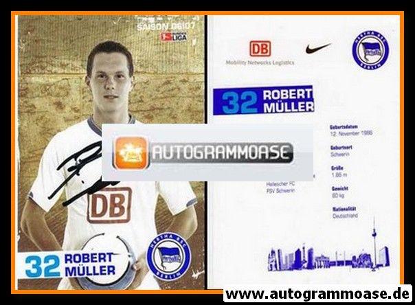 Autogramm Fussball   Hertha BSC Berlin   2006   Robert MÜLLER