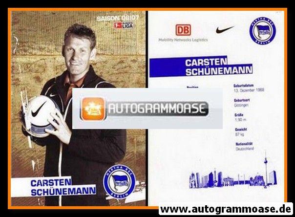 Autogramm Fussball | Hertha BSC Berlin | 2006 | Carsten SCHÜNEMANN